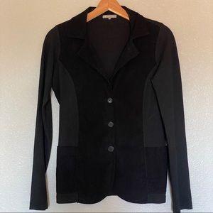 James Perse | black on black knit cord blazer